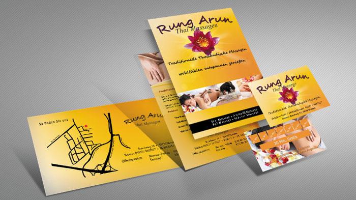 Flyer Und Visitenkarten Thai Massage Screp Media